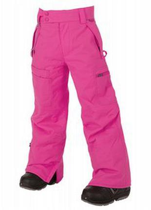 Теплые лыжные штаны брюки на девочку, утеплитель тефлон
