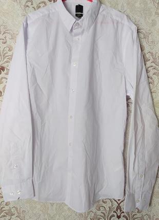 Рубашка  белая фирмы h&m, размер l
