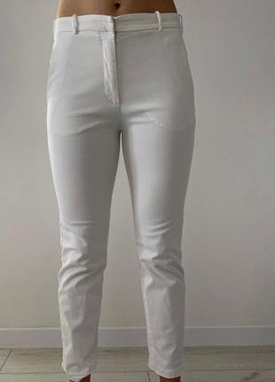 Женские белые штаны, укороченные брюки,  белые штаны, молочные штаны.