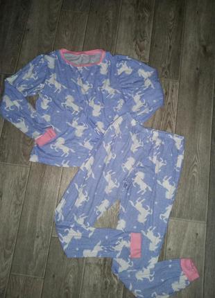 Пижама для девочки с лошадками