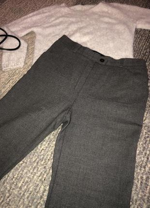 Женские стильные тёплые шерстяные брюки штаны