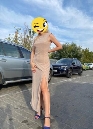 Шикарна довга сукня з розрізом від бедра, сукня на випускний для вечірки на весілля вечернее платье