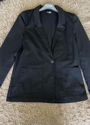 Трендовый пиджак прямого кроя h&m
