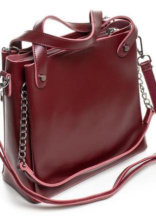 Большой выбор сумок женских, изготовлена из натуральной плотной кожи.