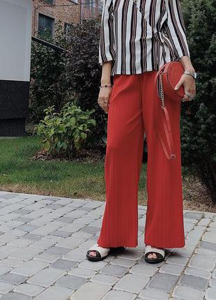 Широкие штаны, штаны, красные штаны