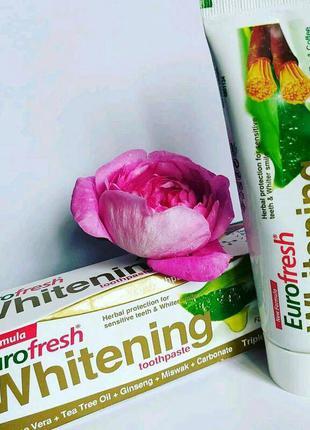Зубна паста eurofresh whitening, 112 г
