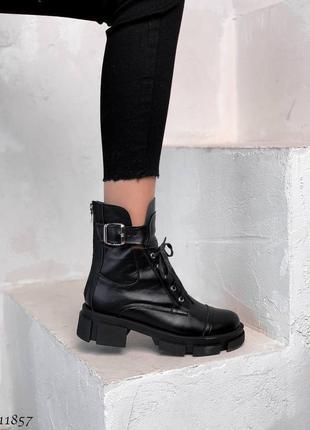Ботинки женские деми чёрные