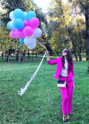 Брючний костюм mohito фуксия малиновый розовый