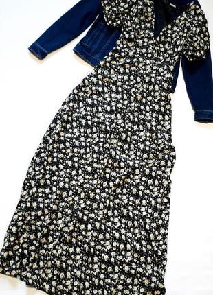 Длинное платье в цветочный принт missguided uk 10