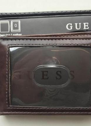 Новый кошелёк guess из 100% кожи / женский кошелёк / мужской кошелёк  / guess