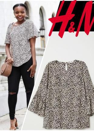 Стильная блузочка от h&m в animal print (16)