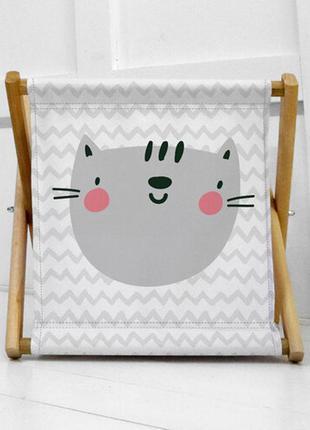 Ящик для хранения детских игрушек с котиком (kor_21s037)