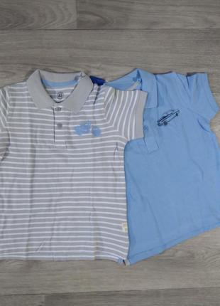 Футболка поло набор набір футболок тенниска lupilu 98-104 110-116