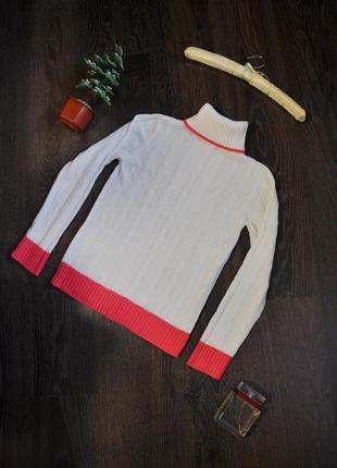 Вязаный свитер с горлом oodji
