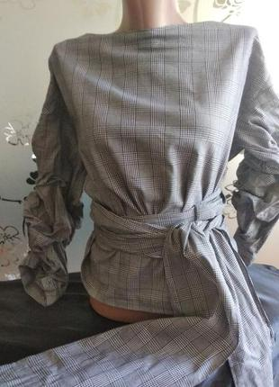 Блуза zara сзади на запах