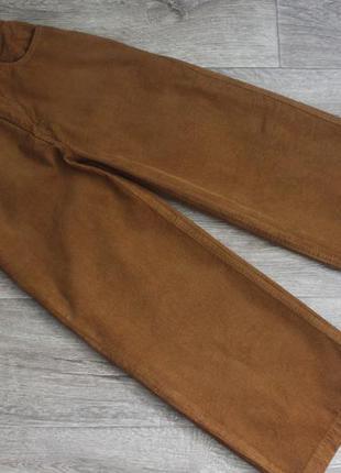 Широкие укороченные вельветовые брюки джинсы кюлоты от denim co