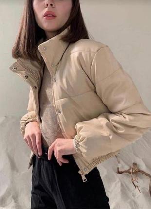 Модная куртка из эко кожи