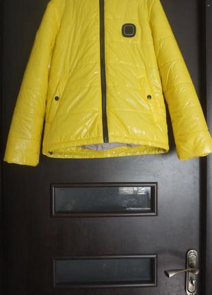 Стильная демисезонная куртка на синтипоне 9-11лет