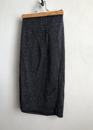 Pimkie блестящую юбка с разрезом карандаш