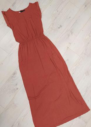 Теракотова плаття в пол максі