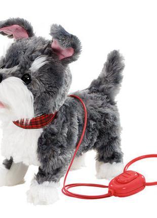 Мягкая игрушка addo pitter patter pets прогулка вместе щенок терьера на дистанционном управлении