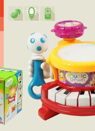 Детский музыкальный центр 592 барабан, пианино