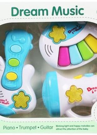 Детские музыкальные инструменты wd3612 гитара, пианино, микрофон