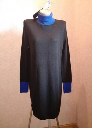 Теплое платье с плотной горловинкой 50%шерсть,новое