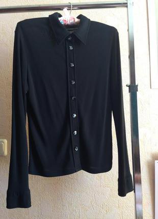Шикарная чёрная рубашка от известного бренда