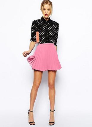 Красивая утонченная  шифоновая юбка плисе asos