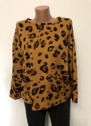 Женский леопардовый свитер f&f