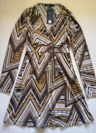 Итальянское платье с люрексом rinascimento р.s-m