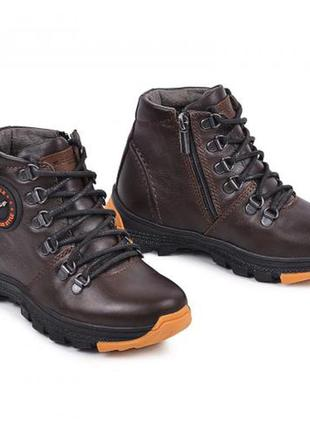 Ботинок джерси коричневая кожа maxus