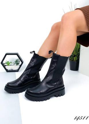 Высокие ботинки челси качество люкс