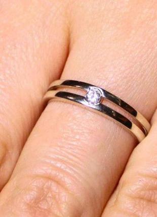 Кольцо серебро 925 проба 15.5 размер