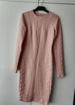 Бежево-кремовое платье р. s