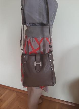 Кожаная сумка borse in pelle
