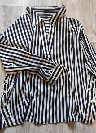 Рубашка блузка в полоску