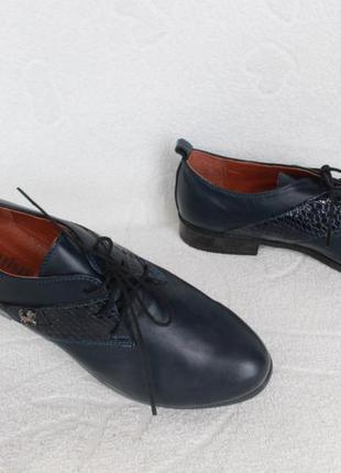 Кожаные туфли на шнурках 36 размера