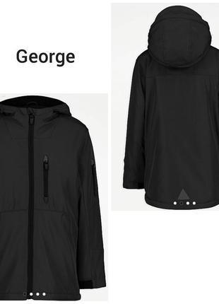 Черная  демисезонная куртка  парка для мальчика george