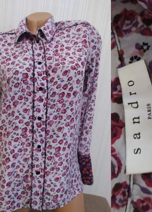 Шелковая блуза кофточка рубашка sandro paris