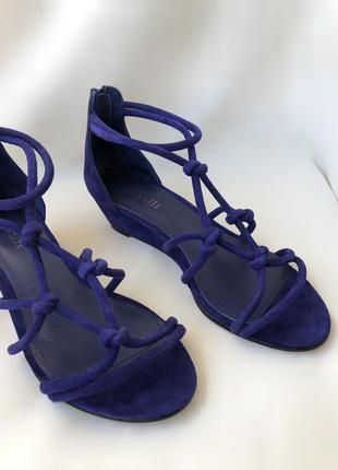 Босоножки minelli натуральная кожа замша туфли