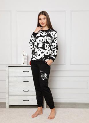 Женский костюм со штанами на байке - панды