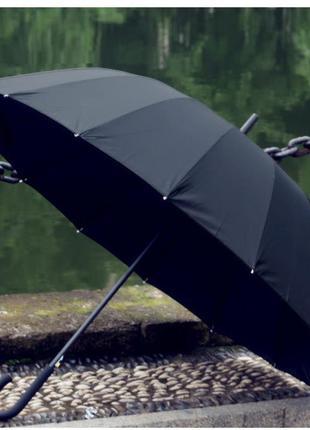 Большой крепкий зонт трость novel антишторм 16 спиц