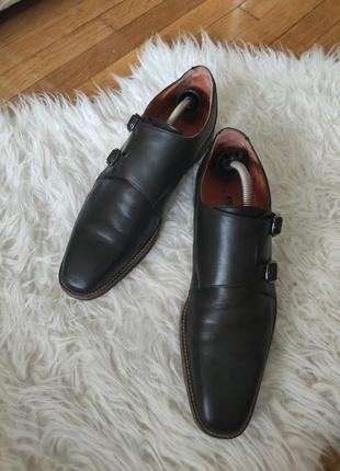 Мужские стильеые кожаные туфли монки 42 estland