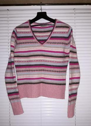 Теплый шерстяной свитер next размер s-m