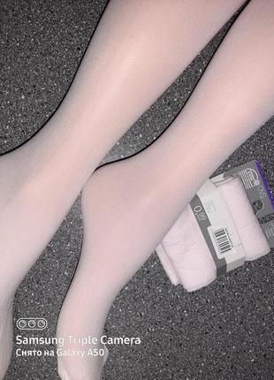 Колготы бледно розовые