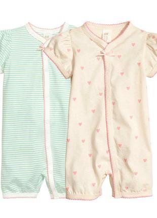 Комплекти ромперів для дівчат 12-24 місяці фірми h&m швеція