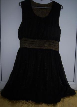 Платье мини шифон нарядное р. m/l