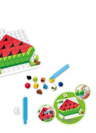 Детская развивающая мозаика 6990, 128 деталей (арбуз)